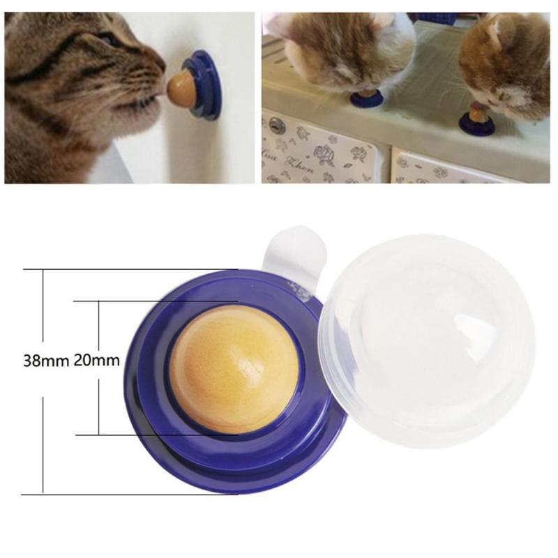 Healthy Cat Snacks Catnip Sugar Candy Licking Solid Nutrition Gel Energy Ball Toys for Kitten Cats Pet Food Digestion Cat Supply