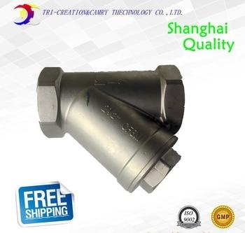 "316 2"" DN50 female stainless steel filter for ball valve/pipe_gas/oil/steam thread filter"