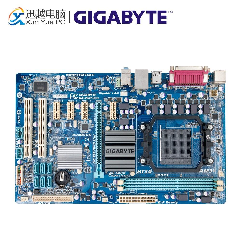 Gigabyte GA-780T-D3L Desktop Motherboard 780T-D3L 760G Socket AM3+ DDR3 16G SATA2 USB2.0 ATX asus m5a78l desktop motherboard 760g socket am3 ddr3 16g sata2 usb2 0 atx