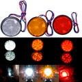 12 V-24 V luzes Traseiras LED 24 SMD Bulbo Refletor Cauda Brake Turn Signal Luz para Carro Motocicleta caminhão Vermelho Amarelo Branco