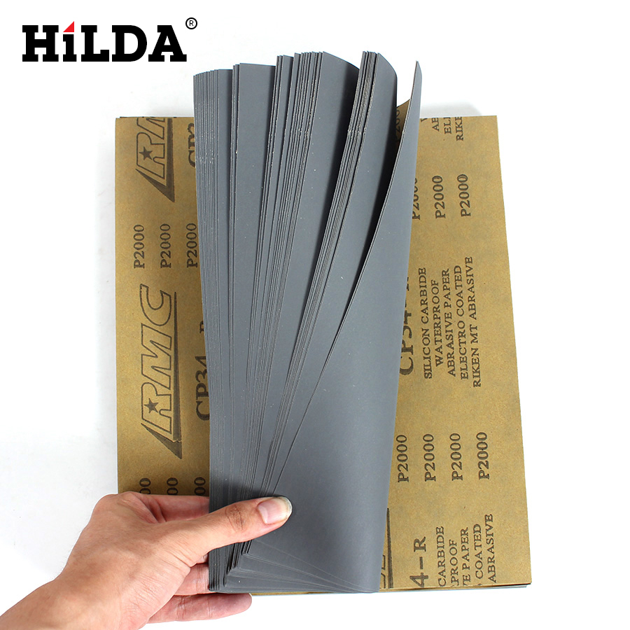 HILDA Sandpaper Waterproof 5 Sheets CP34 Sandpaper 2000 Grit Waterproof Paper Wet/Dry Silicon Carbide Silicon Carbide