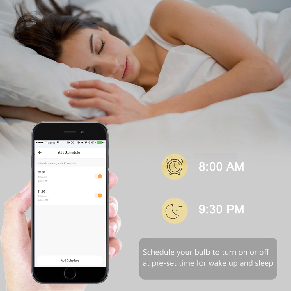 Tuya EC Smart Wifi Bulb E14 LED Candle Light Voice Control by Alexa Google Assistant Siri 5W RGBW Dimmable APP Control Lamp 2pcs in LED Bulbs Tubes from Lights Lighting
