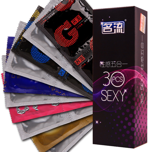 24 Pcs G Small Condom 4 Types G-spot Stimulation Condoms for Men Thin Slim Condom with Dots Male Contraception Sex Products