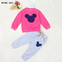 EMS DHL Free Shipping 2pc NEW Autumn Outfit Baby Girls Boys Clothes Children S Clothing T