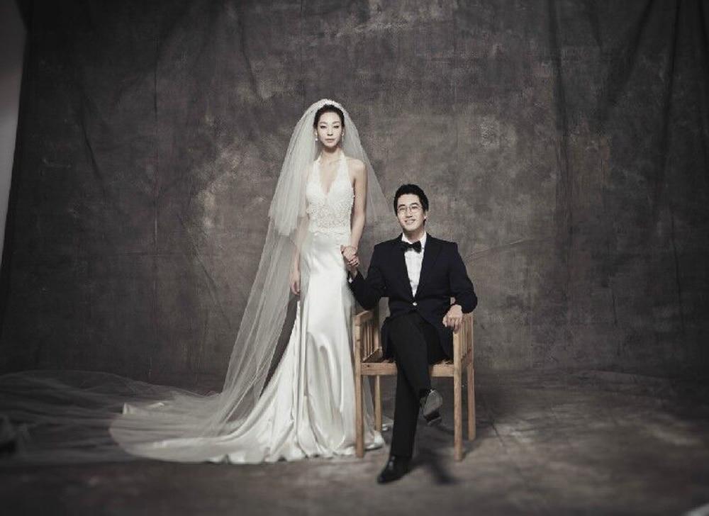 Fond de photographie de mousseline teinté Pro fond gris bleu vert pour photo studio de mariage ou photo de famille toile de fond en mousseline DM071