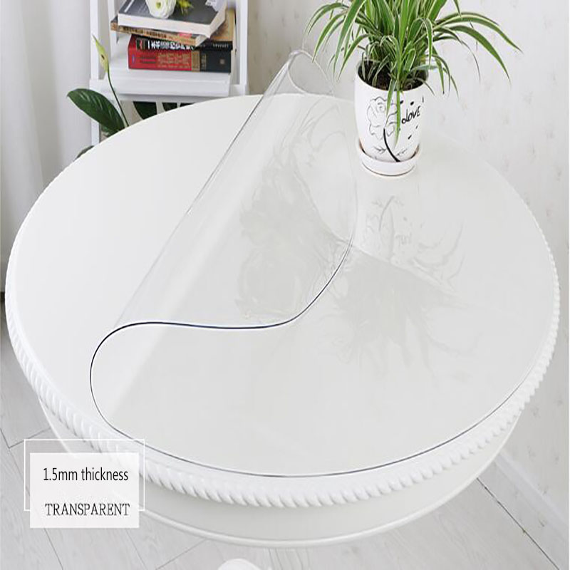 1 5mm Thick Round Tablecloth Sizes Home Dining Room