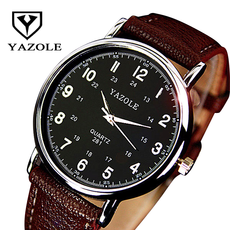 YAZOLE Slim Business Men Watches 2017 Top Brand Luxury Famous Male Clock Wrist Watch Simple Men's Quartz-Watch Relogio Masculino xinge top brand luxury leather strap military watches male sport clock business 2017 quartz men fashion wrist watches xg1080