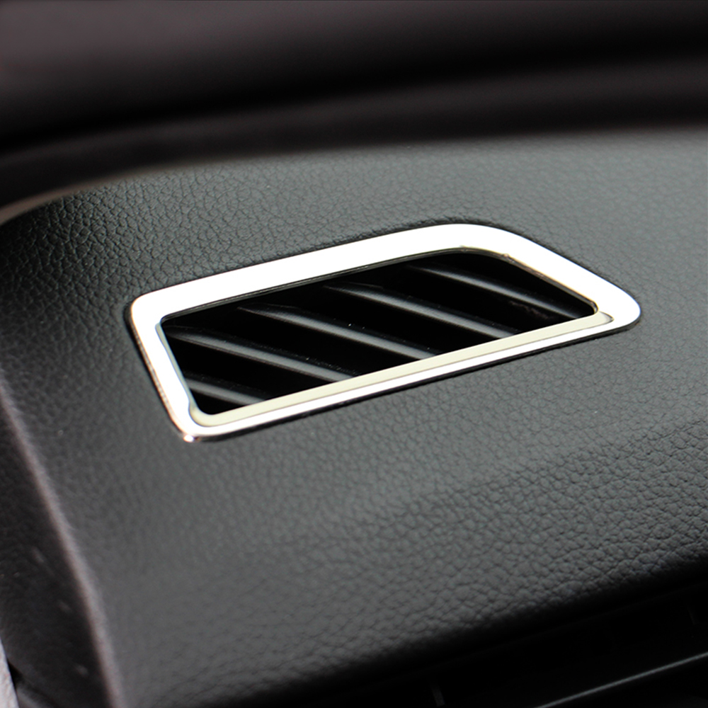 Dashboard outlet vent trim cover sticker stainless steel bezet auto accessories 2pcs/set For skoda octavia a7 2015,Car Styling