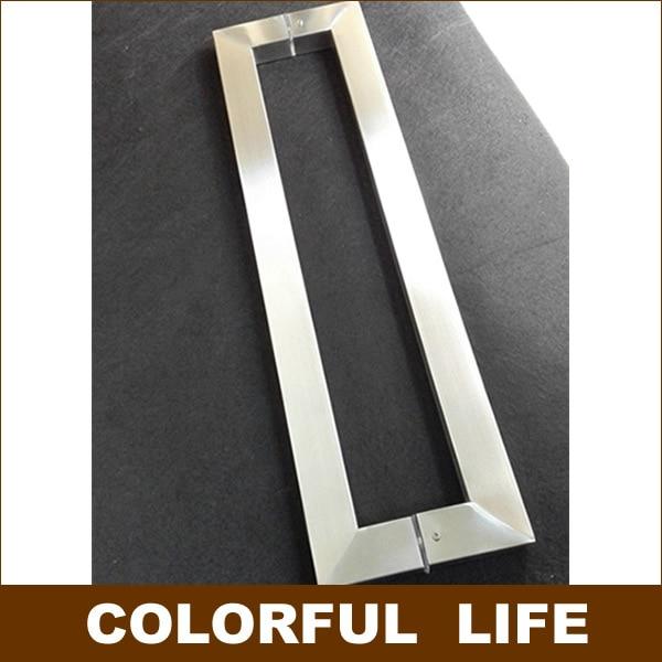 Moderne, minimalistische Vierkante buisvormige rvs glas deurklink ...