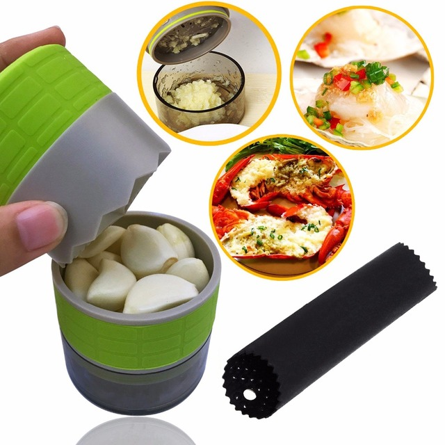 New Garlic Press Peeler Garlic Clasp Crusher Portable Garlic Clasp Mincer Chopper Slicer Grater Cooking for Kitchen Tools Gadget