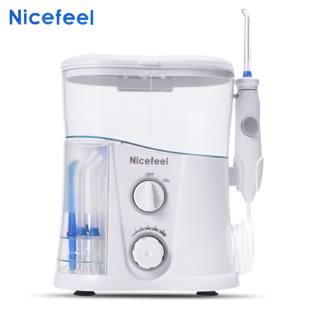 Nicefeel FC188G Dental Water Jet Oral Care Teeth Irrigator Oral Hygiene Dental Water Flosser 1000ml Water Tank nicefeel water flosser oral irrigator dental water jet replacement tube hose handle for model vl 1505 oc 1200 wp 100 fc168 only