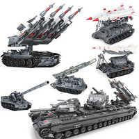 Xingbao 06004/05/01/07 Military Series T92 Tank SA-3 Tank Missile 8U218 Building Blocks Bricks Toys for Children Adult Legoying