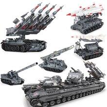 Xingbao 06004/05/01/07 Military Series T92 Tank SA-3 Tank Missile 8U218 Missile Building Blocks Bricks Toys for Children Adult