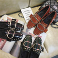 Rivets Decoration Brand Shoes Flats Women Spring Summer Punk Style Womens Flats Boat Shoes Sexy Ladies Casual Shoes