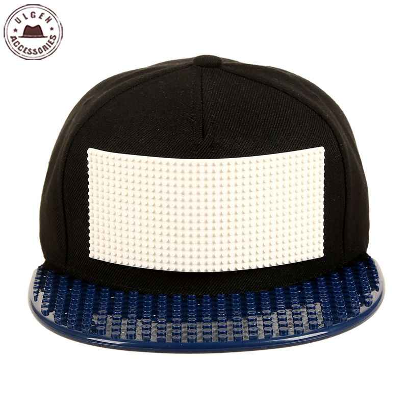 9c3d75fb6de Personality customize Legos cap high quality blocks DIY legos baseball hat  trucker snapback hat for men