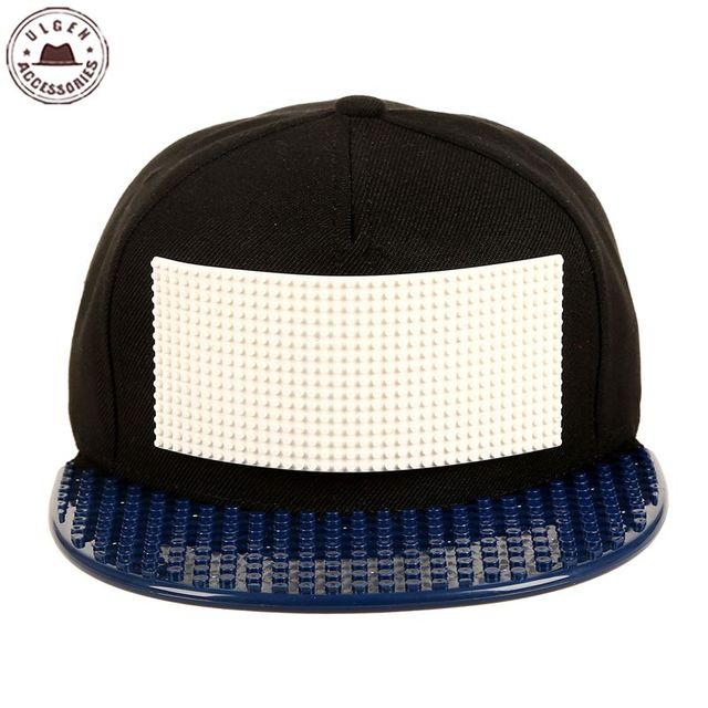 97dcb4c195a Personality customize Legos cap high quality blocks DIY legos baseball hat  trucker snapback hat for men and women detachable
