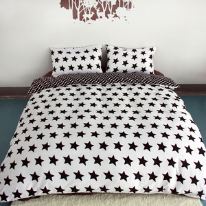 Image 3 - 3ピース布団カバーセットスーパーキングクイーンサイズカスタマイズされた寝具セット印刷ないボールをフェードしないベッドセット黒と白