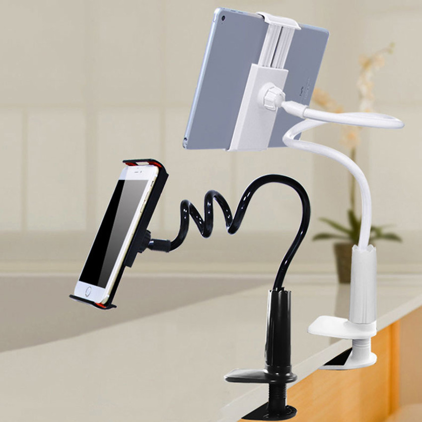 Mobile Phone Bracket 360 degree Flexible Arm Table Pad Holder Stand Bed Desktop Tablet Mount Holder For Huaiwei Xiaomi ipad