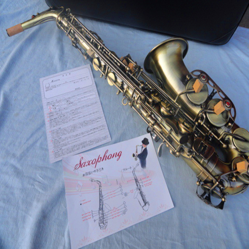 Alto sax Saxophone Eb antique brass surface Wind Instrument Sax Western Instruments saxofone Musical Instruments saxophone big promotionsts r54 b selmer tenor saxophone musical instrument antique brass wire drawing sax