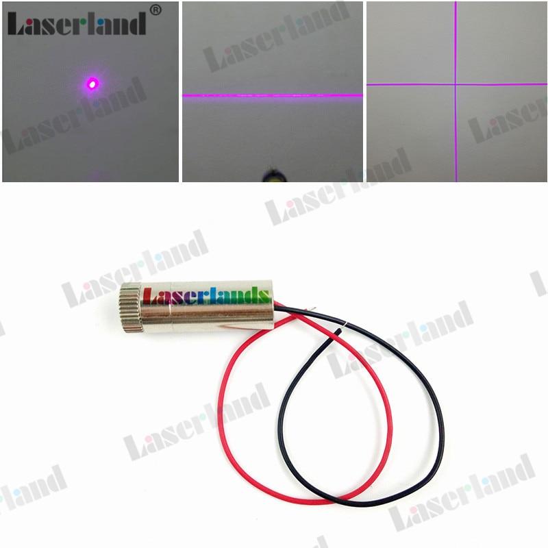 12*35mm 405nm Dot Line Cross 5mW-10mW 20mW 50mW 100mW 150mW Violet/Blue Laser Diode Module Focusable