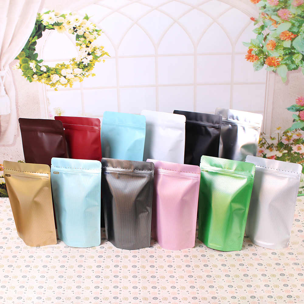 250g High Barrier Kraft Paper Stand up Zipper Coffee Pouch Bag Zip Lock Food Gift Cookie Baking Packaging Aluminum Foil Bag
