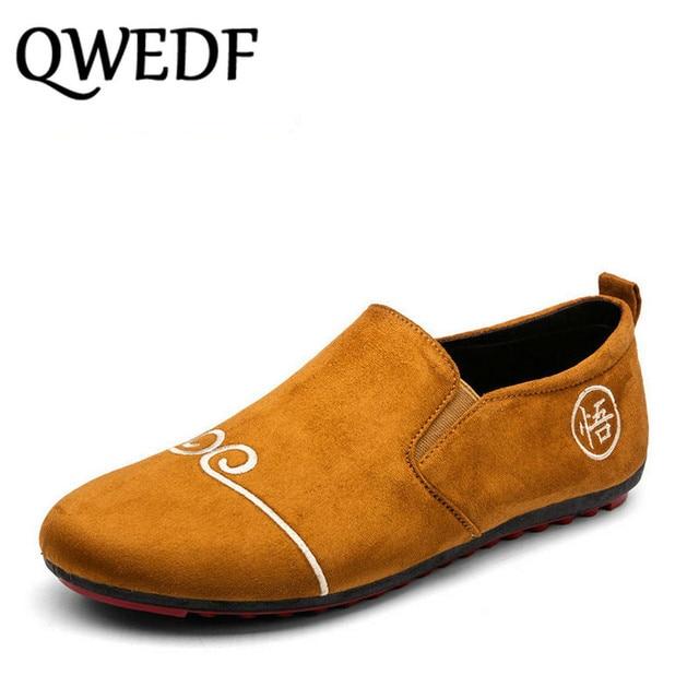 07ee42d7da2f2 QWEDF 2018 nueva marca de moda de gran tamaño 11 zapatillas de deporte  mocasines zapatos para