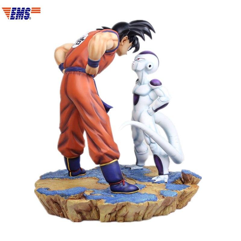 Dessin animé Dragon Ball Z Son Goku première rencontre Frieza en regardant les scènes GK résine Statue figurine modèle Giocattolo G2536