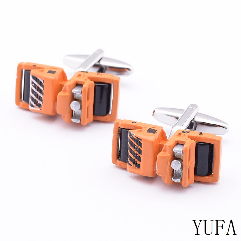 Car Cufflinks yellow color cufflinks copper material whoelsale&retail Free shipping