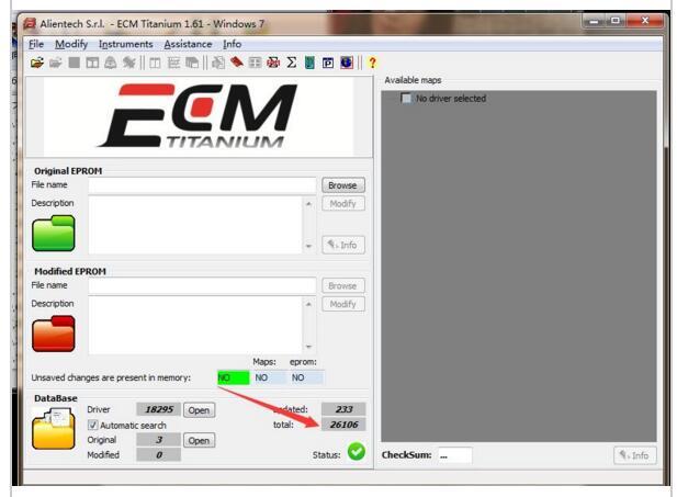 Date ECM TITANE 1.61 avec 26000 + Pilote pour KESS V2 et Ktag