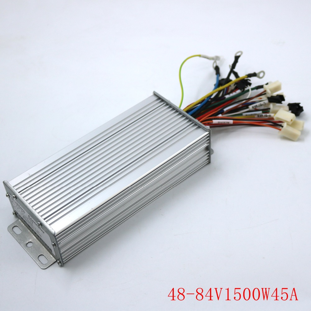 GREENTIME 15 Mosfet 48-84V 1500W 45Amax Dual Mode Sensore/Sensorless Brushless DC Motor Controller bici elettrica Driver