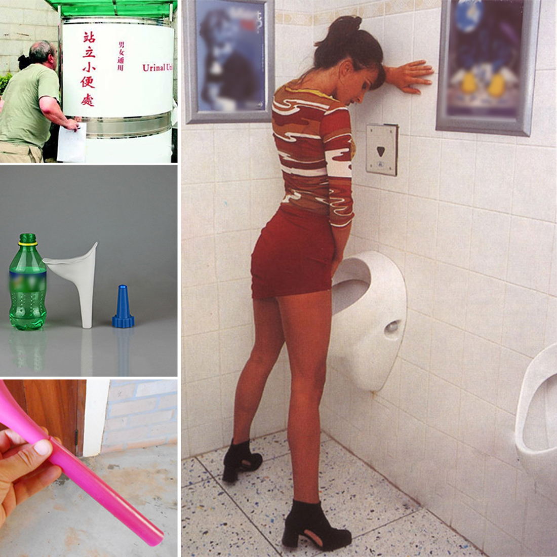 Urinal Outdoor Travel Portable Female Soft Urination Device Stand Up & Pee 2