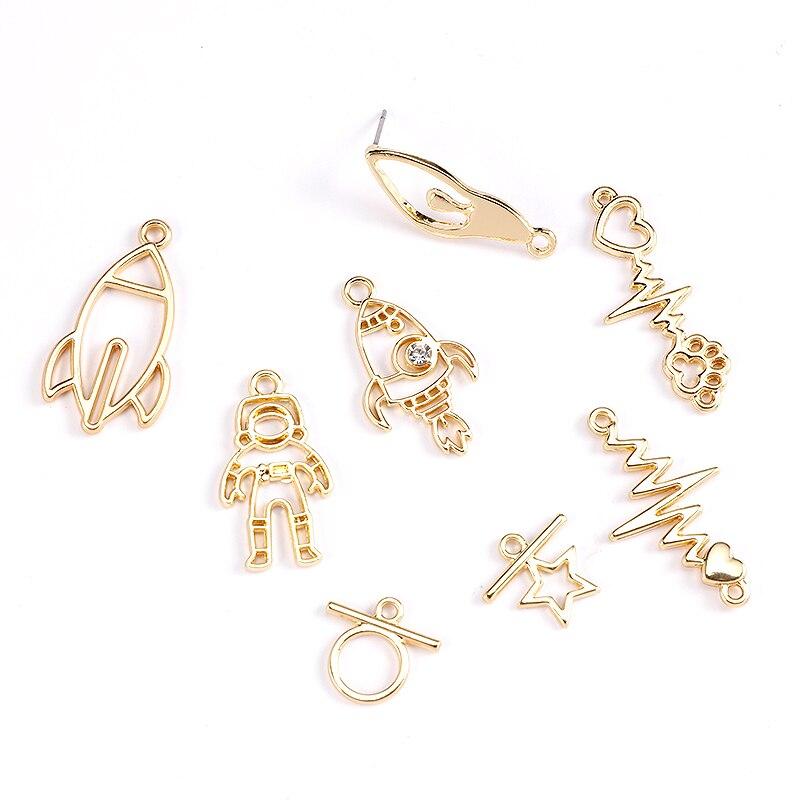 30Pcs Gold 3D Little Lock Charm Pendant DIY Necklace Bracelet  Making Jewelry