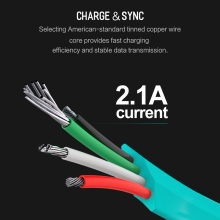ROCK Salmon Auto Disconnect Micro USB Cable for Androids
