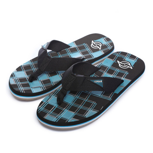 b178fbdc5 2015 Fashion New Design Men flip flops quality EVA green blue Sandals Soft  Beach male flat slippers summer cool shoes for man