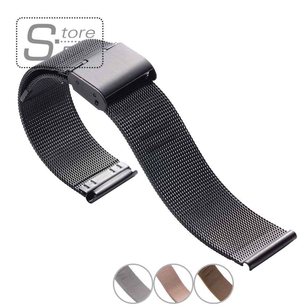 1piece Selling 04mm Diameter Men Stainless Steel Mesh Watch Bracelet Watch  Straps 18mm 20mm 22mm