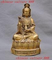 Crafts statue Tibetan Brass Buddhism Guanyin Goddess Mercy spirit buddha Bodhisattva statue halloween