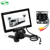 DC 12V~36V Truck Bus Parking Camera Monitor System, HD 7 Inch Car Monitor With Rear View Camera 10M 15M 20M RCA Video Cable