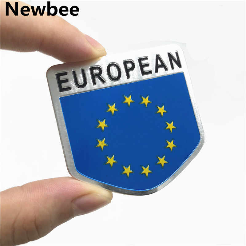 3d European Union Flag Emblem Badge Car Styling Sticker Motorcycle Decal Accessories For Audi Bmw Benz Citroen Open Skoda Ford