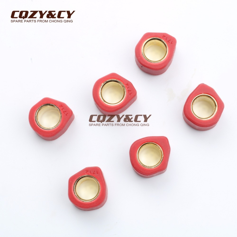 High Performance Variator Weights Round 17x 12mm 8g For SUZUKI Address50 Katana V-Y 50 Sepia S 50 Zillion50