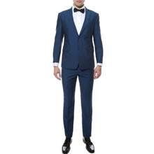 High quality fashion two grain of buckle lapel two-piece ball gown wedding the groom twinset of men's suit (jacket + pants)