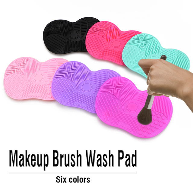 Silicone Makeup Brush Cleaner Mat Washing Tools Cosmetic Make up Eyebrow Brushes Cleaning Pad Scrubber Board Makeup Cleaner Tool 3