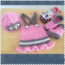 da8c7a3d0 newborn firefighters hat,firefighters baby girl hat,boots with Short skirt  3pcs baby Set