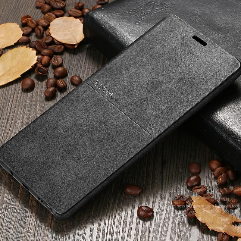X-Level роскошный высококачественный Ретро Классический Флип кожаный чехол для Samsung Galaxy S8 S7 Edge S10e plus Note 9 8 note 7 5 откидная крышка