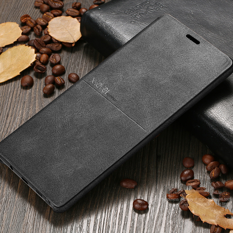 x-level luxury top quality retro classic flip leather phone case and flip cover