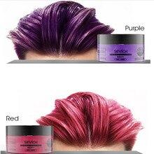 Women Men Hair Color Wax DIY Hair Clay Wax pastel Mud Dye Cream Grandma Ash Disposable Hair Dye Cream Styling Temporary