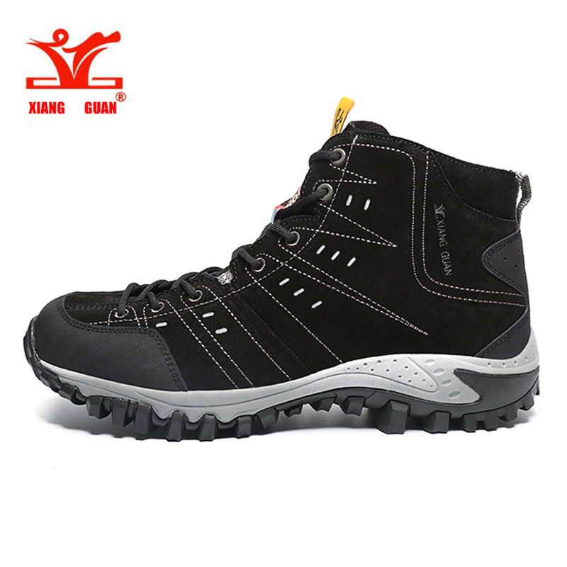 Xiang Guan Hiking Boots Outdoor Sport Sneakers Mountain Climbing Camping Shoes High Cut Trekking Shoes New Arrival High Quality yin qi shi man winter outdoor shoes hiking camping trip high top hiking boots cow leather durable female plush warm outdoor boot