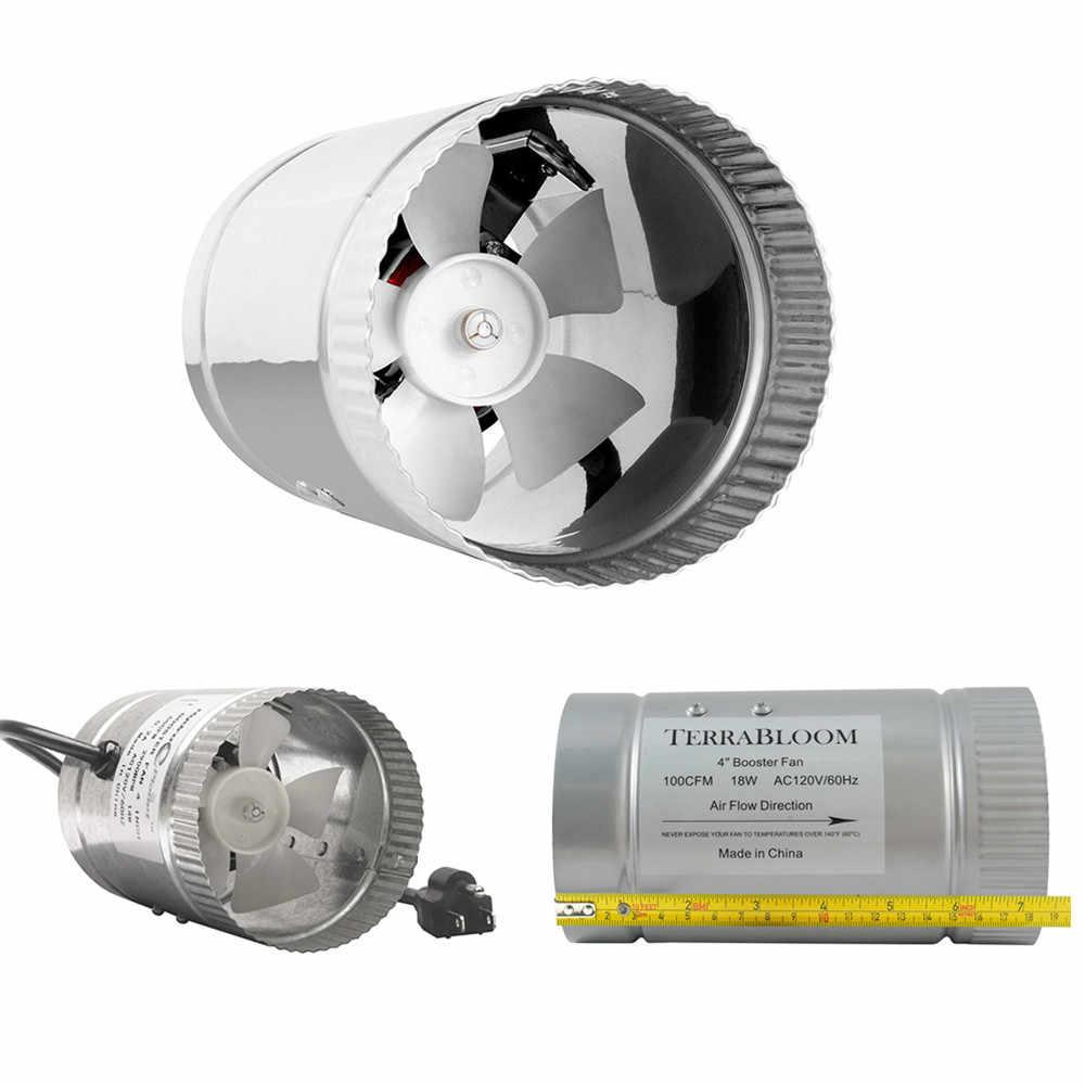 4 дюйма Гроу тенты для центробежных вентиляторов и воздушный фильтр с активированным углем костюм 110/220V для growtent гидропоники парниковых светодиодный светильник индукции growbox