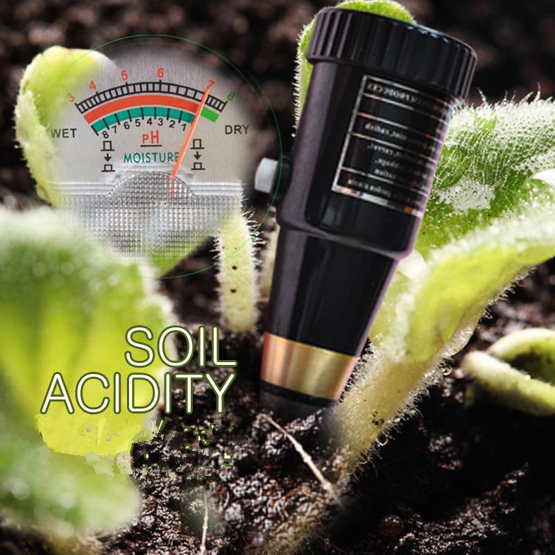 High Precision Soil PH Meter Plant Flower Moisture Light Soil Detection Organic Fertilizer pH Tester Hydroponics Analyzer KS05
