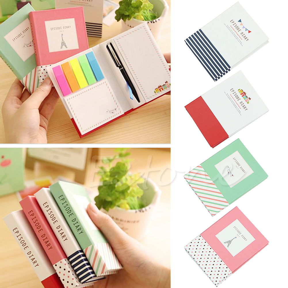 New Creative cute Hardcover Memo Pad Post It Notepad Sticky Notes paper Kawaii school office supply Stationery W15