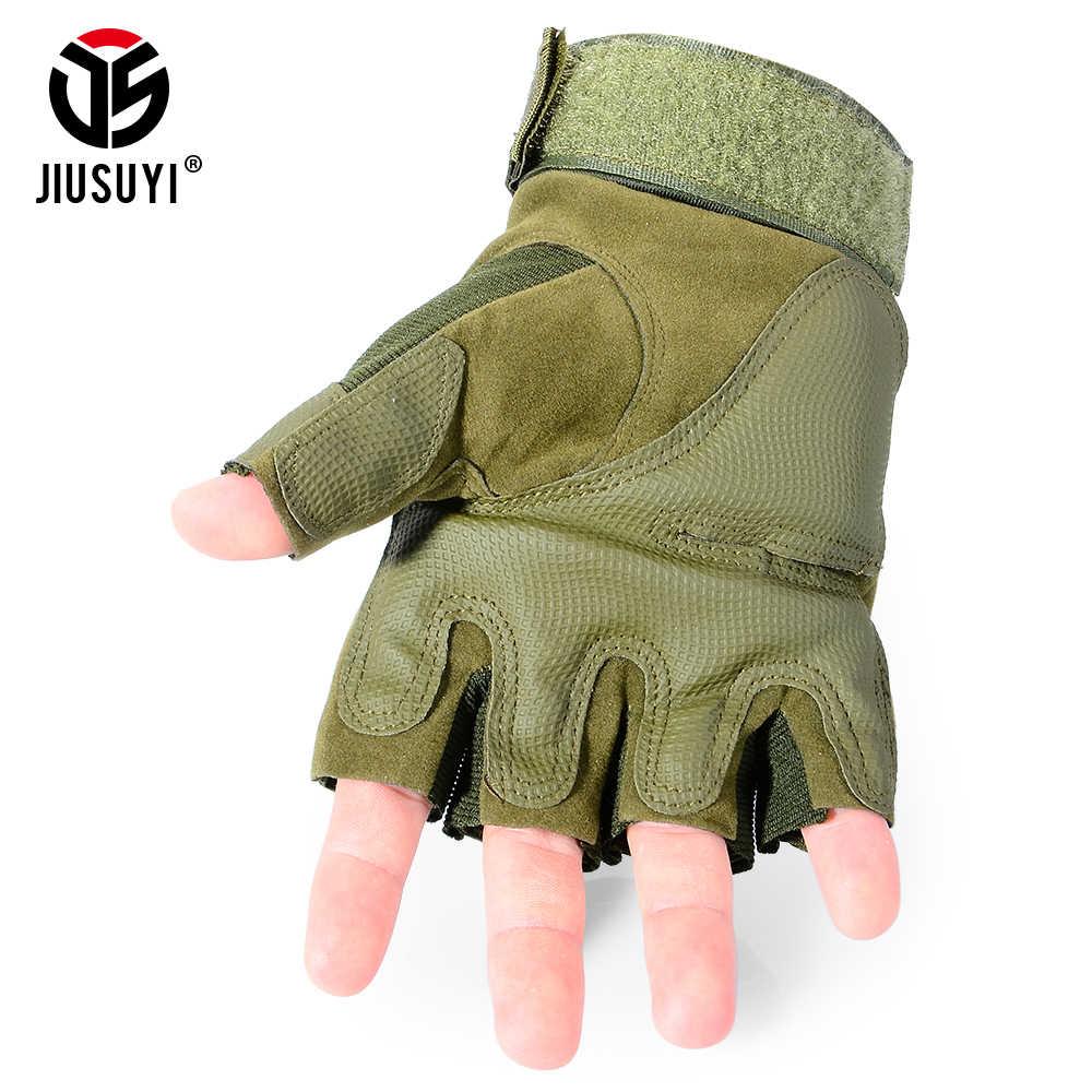 Тактические армейские военные страйкбол для стрельбы на велосипеде без пальцев Combat paintball Углеродные с твердыми костяшками перчатки с половинными пальцами